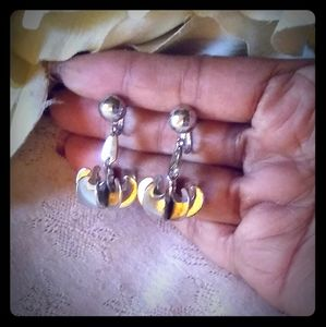 Vintage Anchor-shaped Dangle Earrings